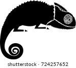 chameleon vector illustration | Shutterstock .eps vector #724257652
