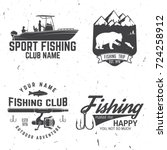 fishing club.  concept for... | Shutterstock . vector #724258912