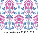 vector seamless decorative... | Shutterstock .eps vector #724261822