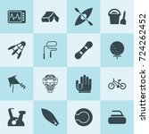 simple 16 set of activity... | Shutterstock .eps vector #724262452