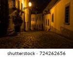 bratislava street at night | Shutterstock . vector #724262656