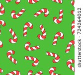 seamless pattern with christmas ... | Shutterstock .eps vector #724264012
