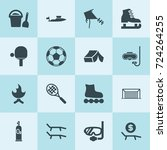 simple 16 set of leisure filled ... | Shutterstock .eps vector #724264255