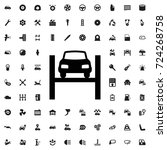 car lift icon. set of filled... | Shutterstock .eps vector #724268758