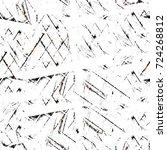 seamless dark brown grunge... | Shutterstock . vector #724268812