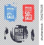 grunge modern sale stickers.... | Shutterstock .eps vector #724270135