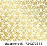 geometric golden seamless...   Shutterstock .eps vector #724273855