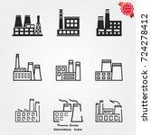 factory icon vector | Shutterstock .eps vector #724278412