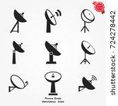 satellite dish icon   Shutterstock .eps vector #724278442