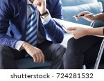 business people discussion... | Shutterstock . vector #724281532