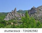crimean mountains in the sun... | Shutterstock . vector #724282582