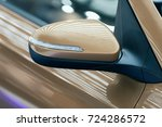 rearview mirror on the motor... | Shutterstock . vector #724286572