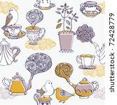 love tea. seamless pattern   Shutterstock .eps vector #72428779