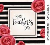 happy teacher's day   unique...   Shutterstock .eps vector #724293076