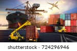logistics and transportation of ... | Shutterstock . vector #724296946