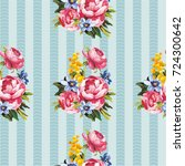 seamless floral pattern with... | Shutterstock .eps vector #724300642