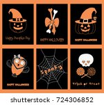 set of hand drawn templates for ... | Shutterstock .eps vector #724306852