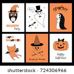 set of hand drawn templates for ... | Shutterstock .eps vector #724306966