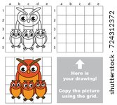 copy the picture using grid... | Shutterstock .eps vector #724312372