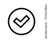 check icon vector fat design... | Shutterstock .eps vector #724314862