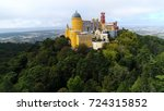 aerial photo of pena palace... | Shutterstock . vector #724315852
