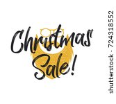christmas sale lettering and... | Shutterstock .eps vector #724318552