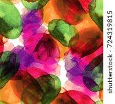 watercolor circles seamless... | Shutterstock . vector #724319815