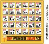 set of safety signs and symbols ... | Shutterstock .eps vector #724320562