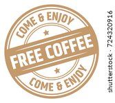 free coffee stamp | Shutterstock .eps vector #724320916