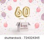 60 years anniversary  happy... | Shutterstock . vector #724324345