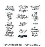 christmas letter  vector... | Shutterstock .eps vector #724325512