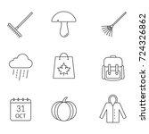 autumn season linear icons set. ...   Shutterstock . vector #724326862