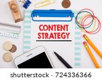 content strategy. marketing ... | Shutterstock . vector #724336366