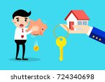 businessman can not buy the... | Shutterstock .eps vector #724340698