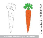 one single vegetable carrot to