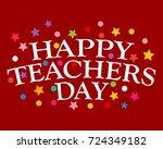 postcard happy teachers day | Shutterstock . vector #724349182