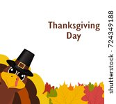 thanksgiving day  banner with... | Shutterstock . vector #724349188