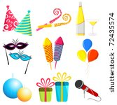 illustration of party elements... | Shutterstock .eps vector #72435574