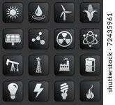 energy icon on square black and ...   Shutterstock .eps vector #72435961