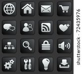 computer icon on square black... | Shutterstock .eps vector #72435976