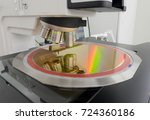 silicon wafer on machine... | Shutterstock . vector #724360186