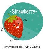 strawberry cartoon vector | Shutterstock .eps vector #724362346
