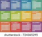 simple colorful calendar for...   Shutterstock .eps vector #724365295