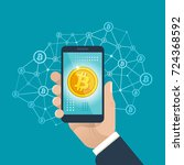 bitcoin business. vector... | Shutterstock .eps vector #724368592