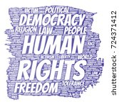 vector conceptual human rights... | Shutterstock .eps vector #724371412