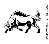 bulls logo silhouette of a bull ... | Shutterstock .eps vector #724380652
