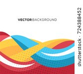 amazing full color background... | Shutterstock .eps vector #724388452