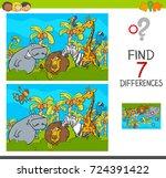 cartoon illustration of find... | Shutterstock . vector #724391422