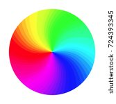 color wheel vector. abstract... | Shutterstock .eps vector #724393345