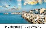 rocks over the oceans.... | Shutterstock . vector #724394146